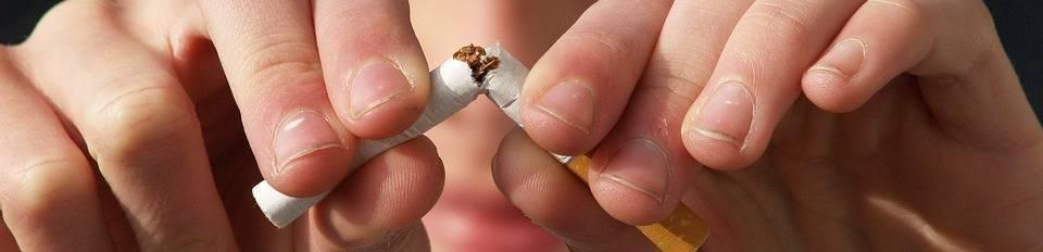 sigaret door midden