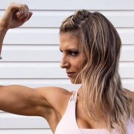 vrouw met spieren