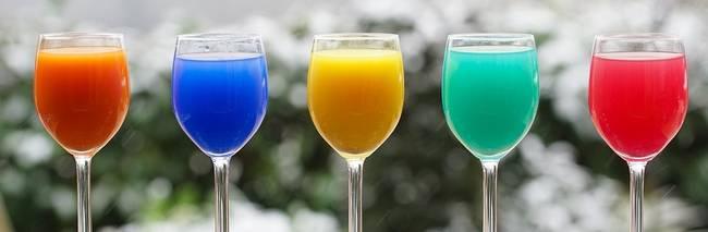 Kleurrijke sapjes