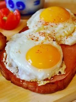 Eieren die gebakken zijn