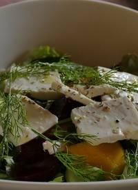 koolhydraatarme salade met geitenkaas